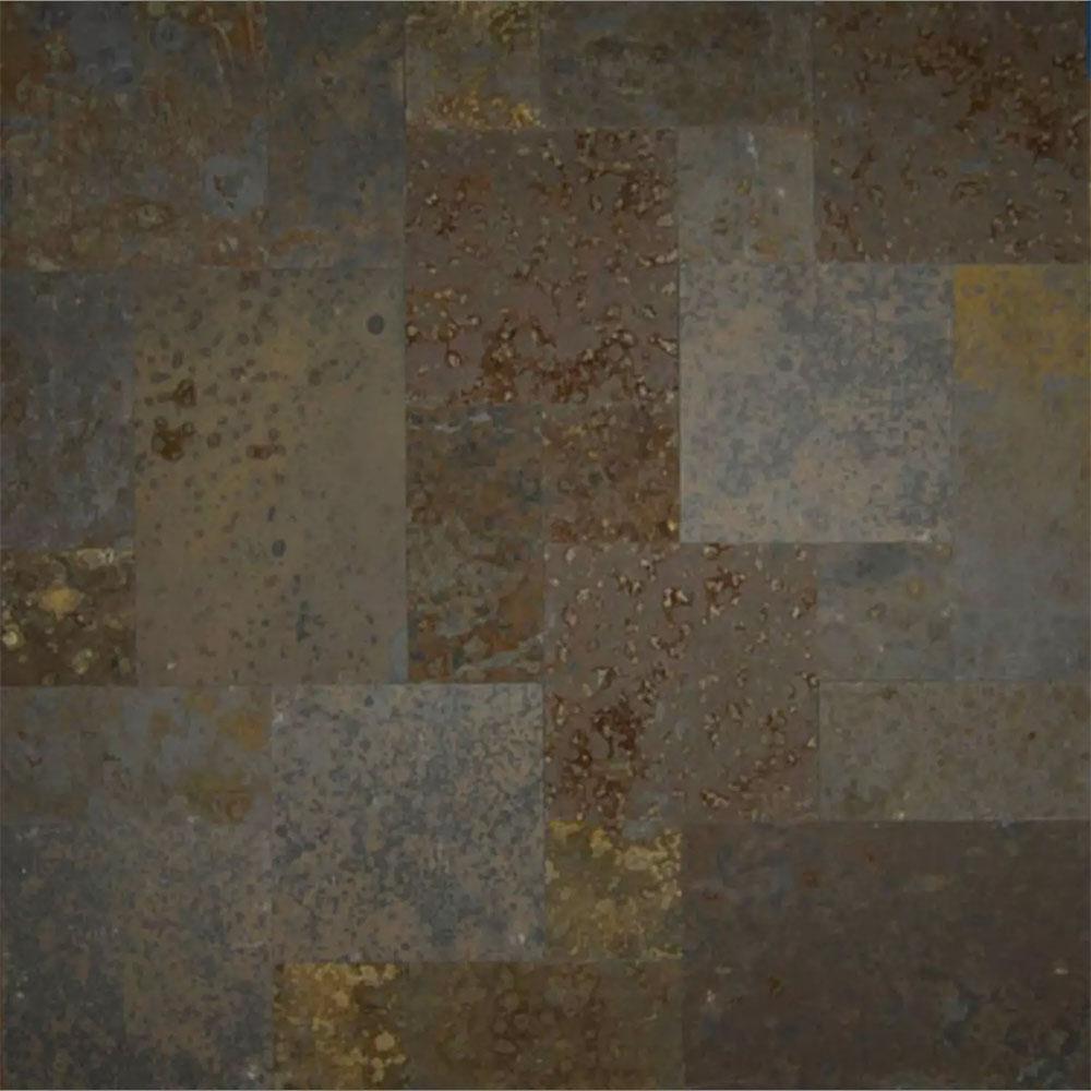 Tilecrest Slate Stone 16 X 24 Brazilian Multicolor Gauged