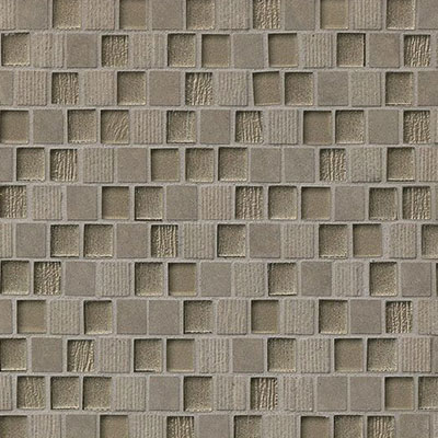 Bedrosians Tessuto Glass Offset Brick Mosaic 3/4 x 1 Dark Gray