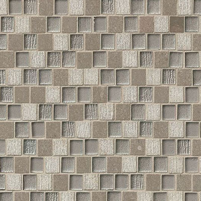 Bedrosians Tessuto Glass Offset Brick Mosaic 3/4 x 1 Gray