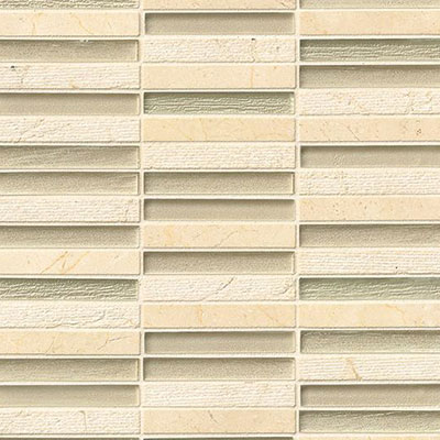 Bedrosians Tessuto Glass Stacked Mosaic 1/2 x 4 Beige