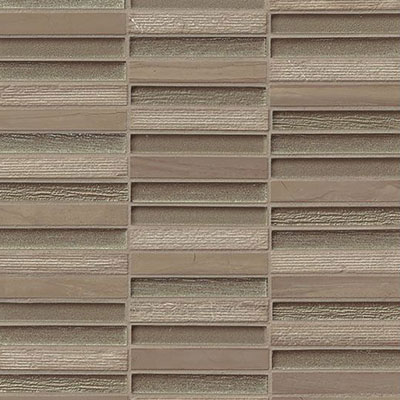 Bedrosians Tessuto Glass Stacked Mosaic 1/2 x 4 Taupe