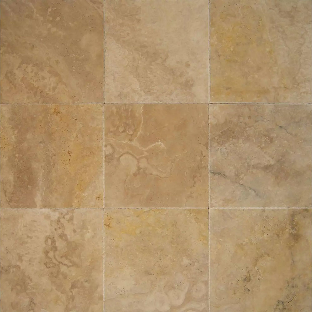 Tilecrest Travertine Stone 16 X 16 Tile Stone Colors