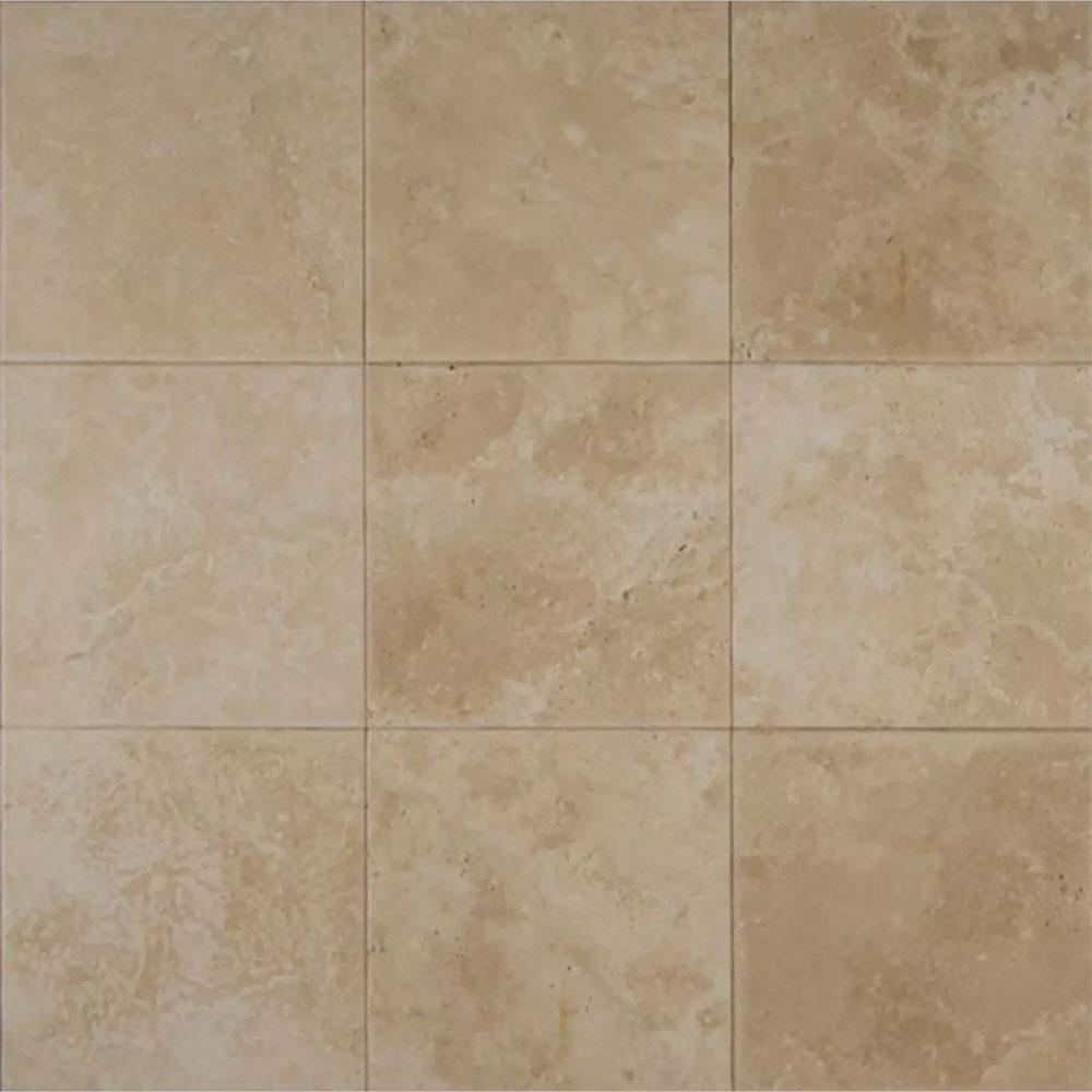 Tilecrest travertine stone 16 x 16 veracruz sand honed for 16 inch floor tile