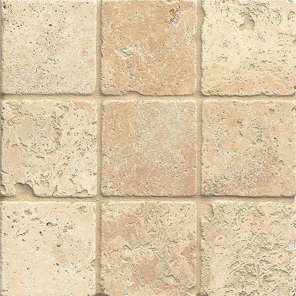 Tumbled Travertine Colors : Tilecrest travertine stone mediterranean beige tumbled