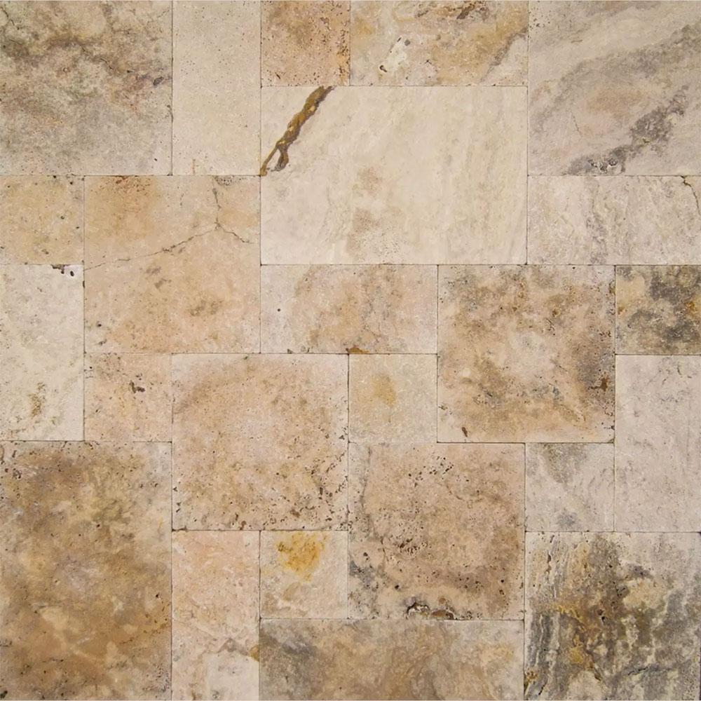 Tilecrest Travertine Stone Pavers Tumbled Set Tile Amp Stone