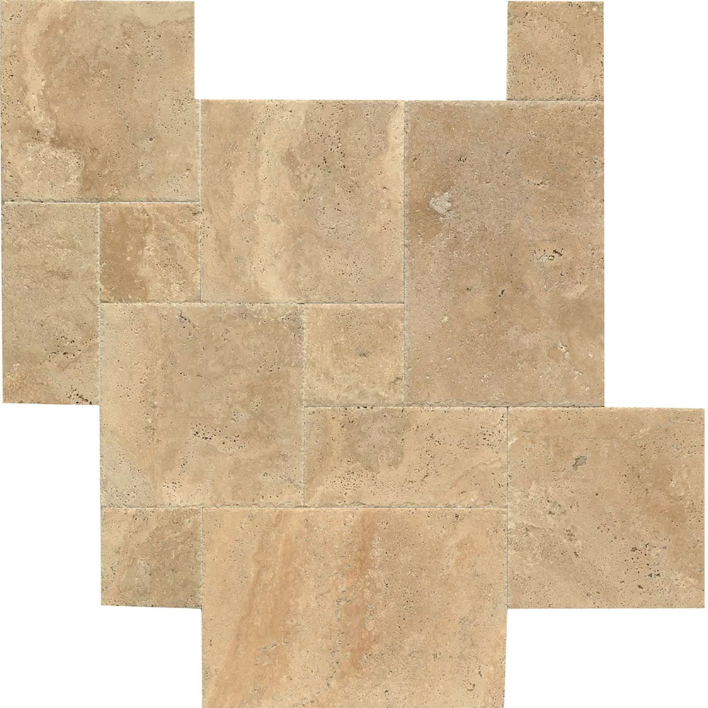 Tilecrest Travertine Stone Versailles Pattern Tile Stone