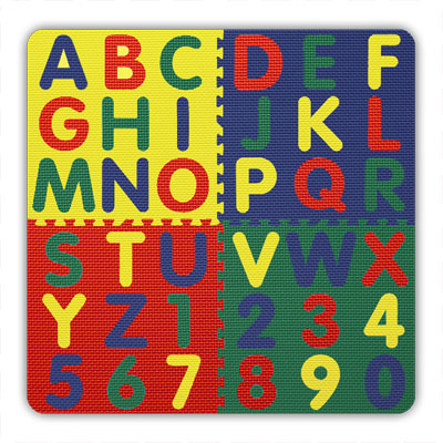 Alessco, Inc. A-Z & 0-9 Jumbo Tile Set AthruZ Tile Set 1200