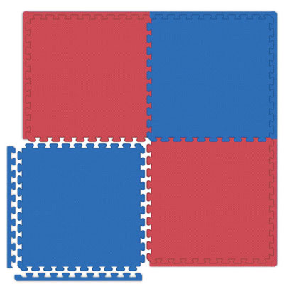 Alessco, Inc. Economy Reversible Soft Floors Red / Royal Blue EconomySfRDRB