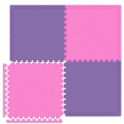 Alessco, Inc. Economy Reversible Soft Floors Pink / Purple EconomySfPKPE