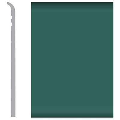 Burke Burkebase Molded Rubber Wall Base Type TS Toeless 10 Hedge Green