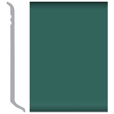 Burke Burkebase Molded Rubber Wall Base Type TS Coved 2.5 Hedge Green