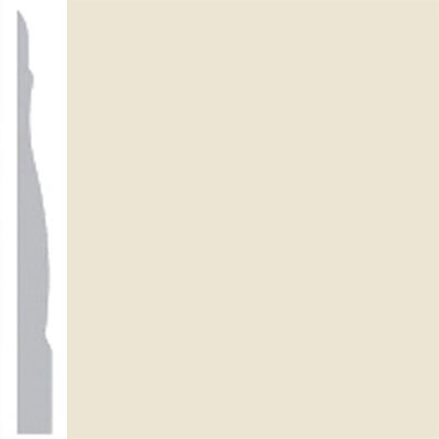 Burke Profiles Designer Rubber Wall Base Type TP Chamfered 4 1/4 Almond