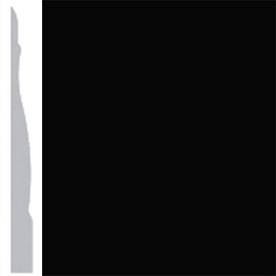 Burke Profiles Designer Rubber Wall Base Type TP Chamfered 4 1/4 Black