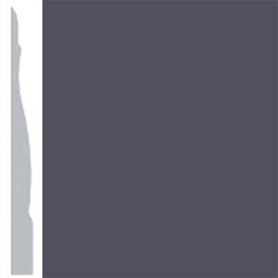Burke Profiles Designer Rubber Wall Base Type TP Chamfered 4 1/4 Black Brown