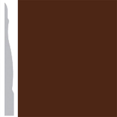 Burke Profiles Designer Rubber Wall Base Type TP Chamfered 4 1/4 Brown