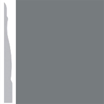 Burke Profiles Designer Rubber Wall Base Type TP Chamfered 4 1/4 Charcoal
