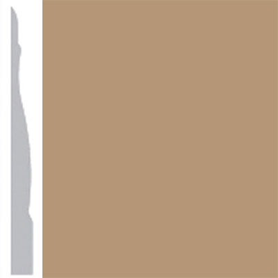 Burke Profiles Designer Rubber Wall Base Type TP Chamfered 4 1/4 Clay