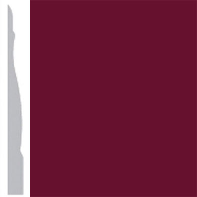Burke Profiles Designer Rubber Wall Base Type TP Chamfered 4 1/4 Cranberry