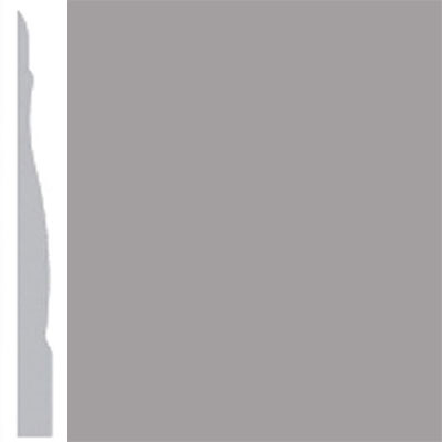 Burke Profiles Designer Rubber Wall Base Type TP Chamfered 4 1/4 Gray
