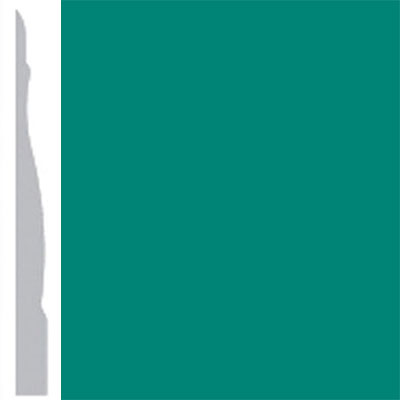 Burke Profiles Designer Rubber Wall Base Type TP Chamfered 4 1/4 Light Teal