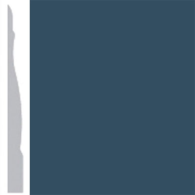 Burke Profiles Designer Rubber Wall Base Type TP Chamfered 4 1/4 Navy