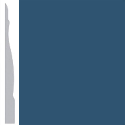 Burke Profiles Designer Rubber Wall Base Type TP Chamfered 4 1/4 True Blue