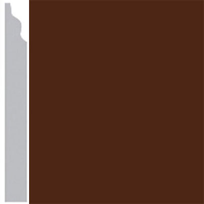 Burke Profiles Designer Rubber Wall Base Type TP Classic 3 1/4 Brown
