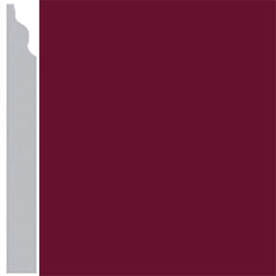 Burke Profiles Designer Rubber Wall Base Type TP Classic 3 1/4 Cranberry