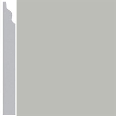 Burke Profiles Designer Rubber Wall Base Type TP Classic 3 1/4 Light Gray
