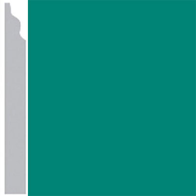 Burke Profiles Designer Rubber Wall Base Type TP Classic 3 1/4 Light Teal