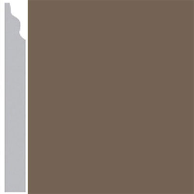 Burke Profiles Designer Rubber Wall Base Type TP Classic 3 1/4 Mocha