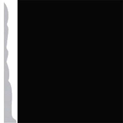 Burke Profiles Designer Rubber Wall Base Type TP Colonial 3 Black