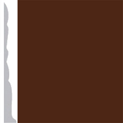 Burke Profiles Designer Rubber Wall Base Type TP Colonial 3 Brown