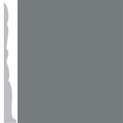 Burke Profiles Designer Rubber Wall Base Type TP Colonial 3 Charcoal