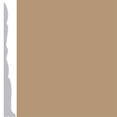 Burke Profiles Designer Rubber Wall Base Type TP Colonial 3 Clay