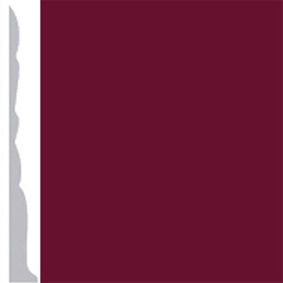 Burke Profiles Designer Rubber Wall Base Type TP Colonial 3 Cranberry