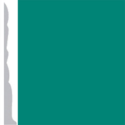 Burke Profiles Designer Rubber Wall Base Type TP Colonial 3 Light Teal