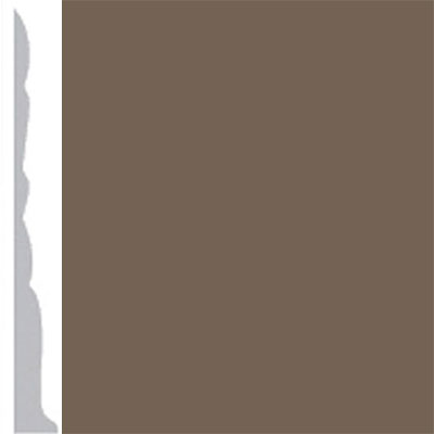 Burke Profiles Designer Rubber Wall Base Type TP Colonial 3 Mocha