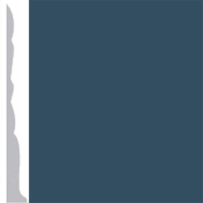 Burke Profiles Designer Rubber Wall Base Type TP Colonial 3 Navy