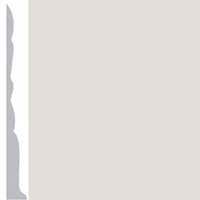 Burke Profiles Designer Rubber Wall Base Type TP Colonial 3 Pearl Luster Metallic