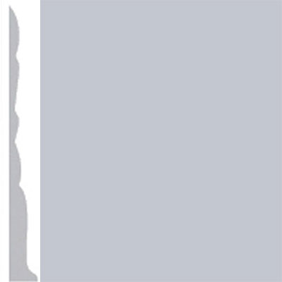 Burke Profiles Designer Rubber Wall Base Type TP Colonial 3 Sky Gray