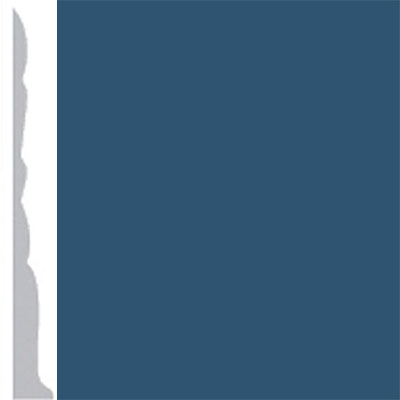 Burke Profiles Designer Rubber Wall Base Type TP Colonial 3 True Blue
