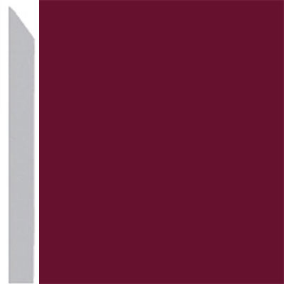 Burke Profiles Designer Rubber Wall Base Type TP Elusive 3 Cranberry
