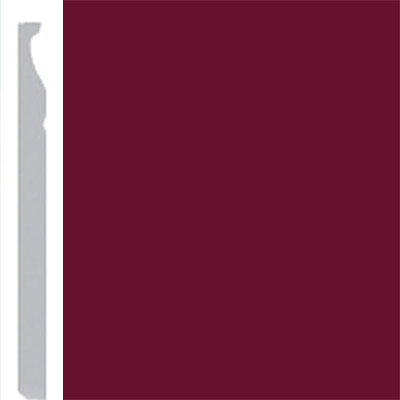 Burke Profiles Designer Rubber Wall Base Type TP Montego 5 1/4 Cranberry