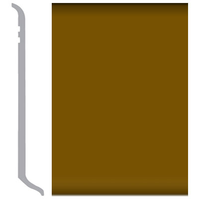 Burke Rubbermyte Rubber Wall Base Type TP Coved 4 Basic Brown