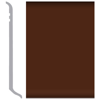 Burke Rubbermyte Rubber Wall Base Type TP Coved 4 Brown