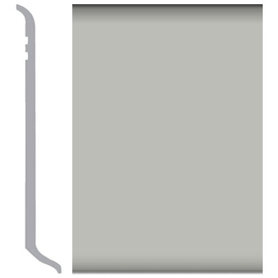 Burke Rubbermyte Rubber Wall Base Type TP Coved 4 Light Gray