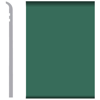 Burke Rubbermyte Rubber Wall Base Type TP Toeless 4 Envy Green