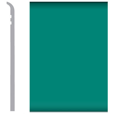 Burke Rubbermyte Rubber Wall Base Type TP Toeless 4 Light Teal