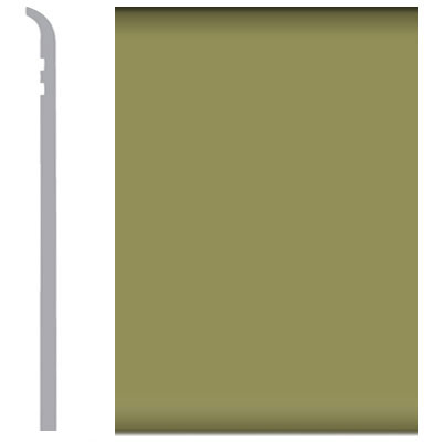 Burke Rubbermyte Rubber Wall Base Type TP Toeless 4 Olive